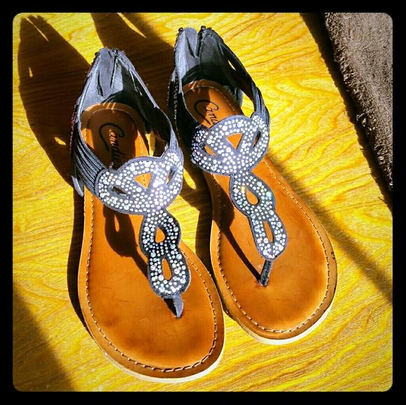 e7f979d89e33a Candie s Shoes - Candies black sandals size 7.5